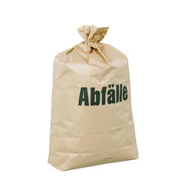 Abfallsack 70 L Papier 2-fach natur 550 x 850mm 25 Stück