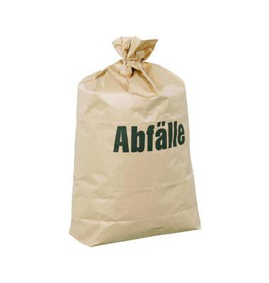 Abfallsack 120 L Papier 2-fach braun 70 x 95cm 25 Stück