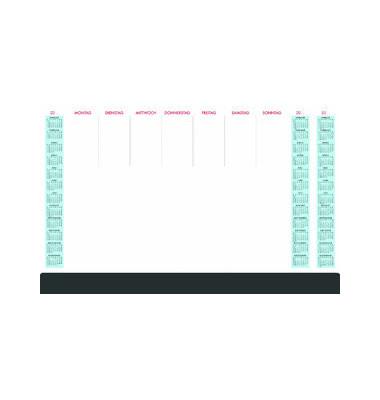 Kalenderschreibunterlage 108 3 Jahresübersicht mit Schutzleiste 60x37cm 36 Blatt ab 2021