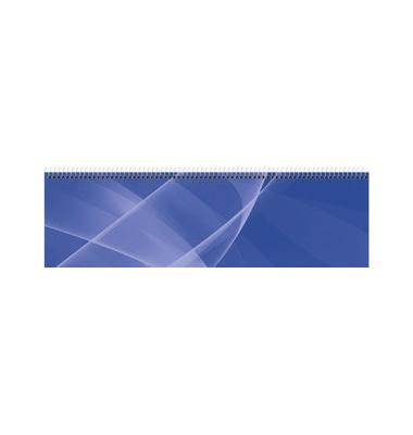 Schreibtischquerkalender 136 1Woche/2Seiten blau 36x10,5cm 2022