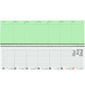 Schreibtischquerkalender 136 1Woche/2Seiten 2-farbig 36x10,5cm 2018 Recycling