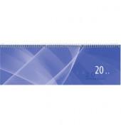 Schreibtischquerkalender 146 1Woche/1Seite blau 30x10cm 2019