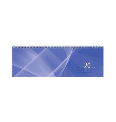 Schreibtischquerkalender 146 1Woche/1Seite blau 30x10cm 2021