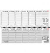 Schreibtischquerkalender 146 1Woche/1Seite grau 30x10cm 2019 Recycling