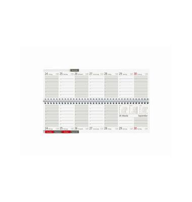 Schreibtischquerkalender Register 166-0002 1Woche/2Seiten 32x10,5cm 2022
