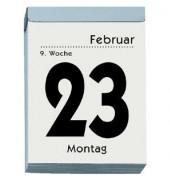 Tagesabreißkalender 305 1Tag/1Blatt 80x110mm 2019