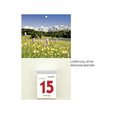 Kalenderrückwand für  Abreißkalender 341 18x33cm Landschaft