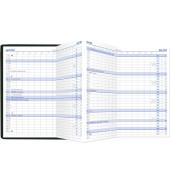 Taschenkalender 510 1Monat/2Seiten sortiert 9,5x16cm 2021