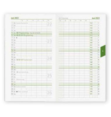 Taschenkalender 520 1Monat/2Seiten farbig sortiert 9,5x16cm 2021 Recycling