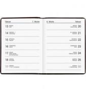 Taschenkalender 650 1Woche/1Seite farbig sortiert 8x11cm 2021