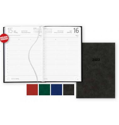 Buchkalender 876 1Tag/1Seite schwarz 15x21cm 2019