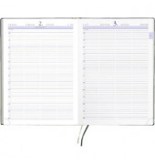 Buchkalender 886 1Tag/1Seite A4 anthrazit 21x29,5cm 2019