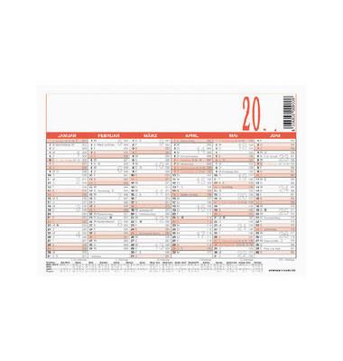 Plakatkalender 900 6Monate/1Seite A6-quer 2020