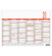 Plakatkalender 904 6Monate/1Seite A5-quer 2020