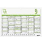 Plakatkalender 907 6Monate/1Seite A4-quer 2020 Recycling
