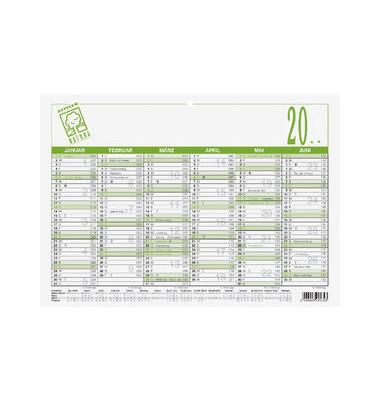 Plakatkalender 907-0700 6Monate/1Seite A4-quer 2022 Recycling