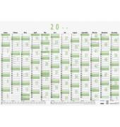 Plakatkalender 911 12Monate/1Seite A1-quer 2019 Recycling