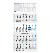 Viermonatskalender 959 4Monate/1Seite 330x635mm 2019