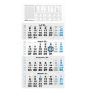 Viermonatskalender 959 4Monate/1Seite schwarz/blau 330x635mm 2021