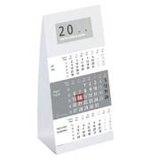 Dreimonats-Tischkalender 980 3Monate/1Seite grau 9,5 x 19,5 cm 2020