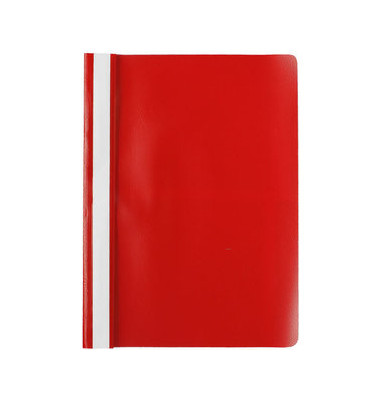 Schnellhefter E0054 A4 rot PP Kunststoff Schlauchheftung