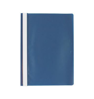 Schnellhefter A4 blau Kunststoff Schlauchheftung genarbt
