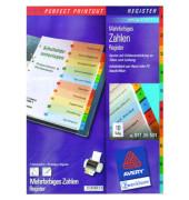 Kartonregister 01735501 1-10 A4 190g farbige Taben 10-teilig
