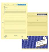 Gesprächsnotiz 1018 gelb A5 50 Blatt