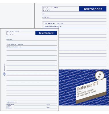 Telefonnotiz 1019 weiß A5 50 Blatt