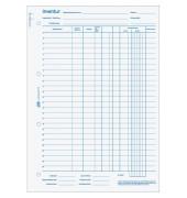 Inventurbuch 1101 A4 hoch weiß Einband blau 50 Blatt