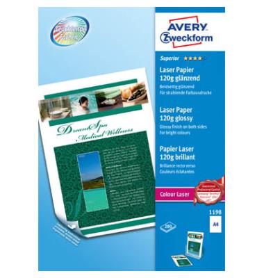 Laser-Fotopapier A4 1198 Superior beidseitig glänzend 120g 200 Blatt