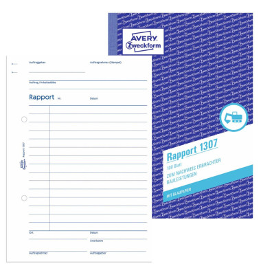 Rapport 1307 A5 100 Blatt