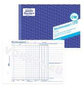 Wochenrapport 1310 A5 1-fach mit Blaupapier 100 Blatt