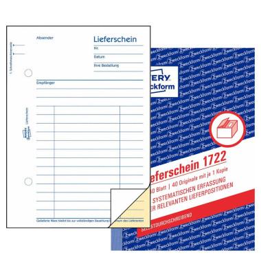 Lieferschein 1722 A6 selbstdurchschreibend 2x40 Blatt