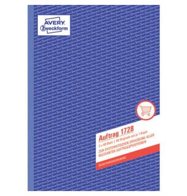 Auftrag 1728 A4 selbstdurchschreibend 2x40 Blatt