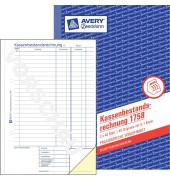 Kassenbericht Bestand 1758 A5 selbstdurchschreibend 2x40 Blatt