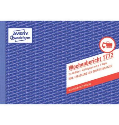 Wochenbericht 1772 A5 selbstdurchschreibend 2x40 Blatt