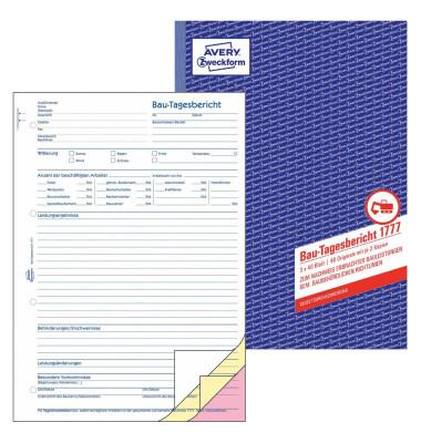 Bautagebericht 1777 A4 3x40 Blatt