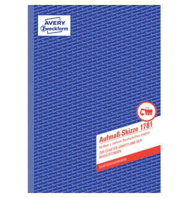 Aufmaßskizze 1781 A4 selbstdurchschreibend 50 Blatt