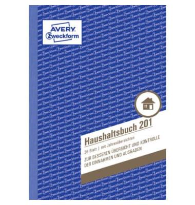 Haushaltsbuch m.Jahresübersi. A5 36 Bl