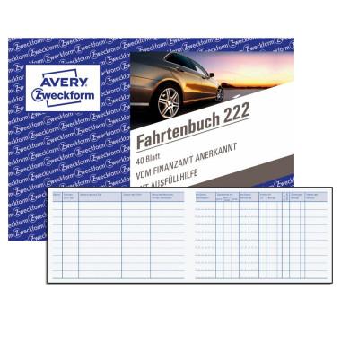Fahrtenbuch 222 A6-quer 40 Blatt