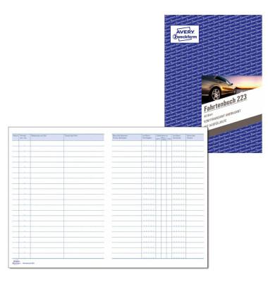 Fahrtenbuch mit Jahresabrechnung  223 A5 40 Blatt