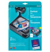 Inkjetfolie 2503, A4, für Inkjetdrucker, 0,11mm, Overhead-Folie, transparent klar, 10 Blatt