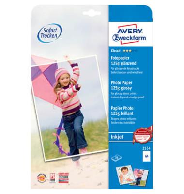 Inkjet-Fotopapier A4 2554 Classic einseitig glänzend 125g 20 Blatt