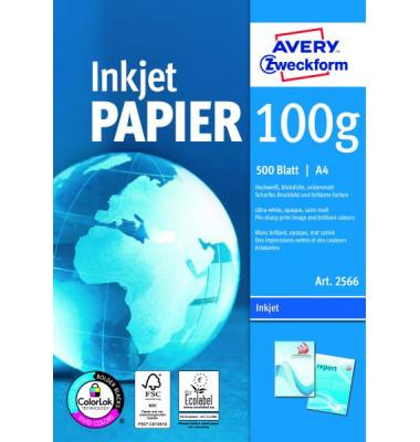 2566 Bright White A4 100g Inkjetpapier weiß 500 Blatt