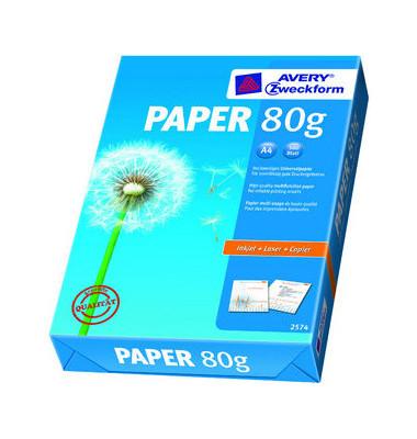 PAPER A4 80g Kopierpapier weiß 500 Blatt