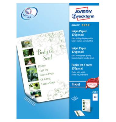 2583 Superior A4 170g Inkjetpapier weiß 100 Blatt