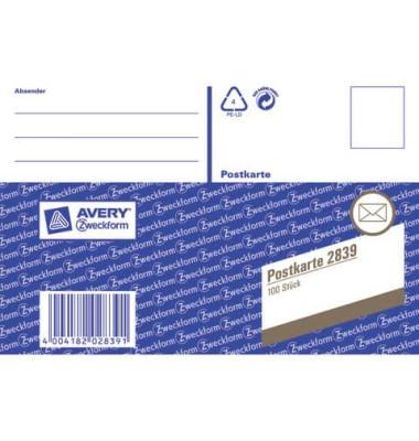 Formular Postkarte A6 100 St
