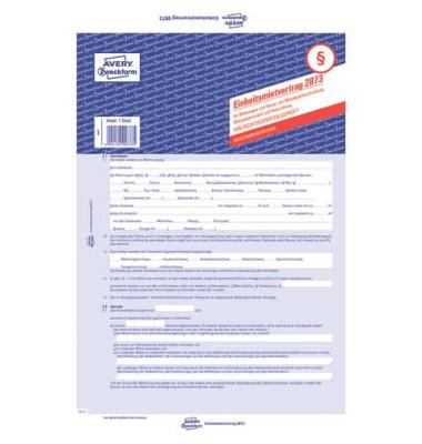 Formular Einheitsmietvertrag A4 2fach selbstdurchschreibend