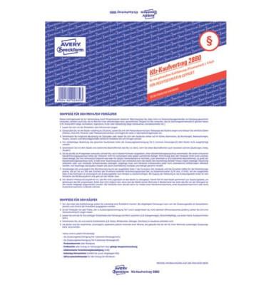 Kaufvertrag für gebrauchte KFZ A4 4-fach-Satz selbstdurchschreibend
